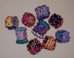 more fabric beads