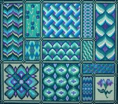 Carolyn Mitchell Designs - Florentine Dreams.-- needlepoint -- bargello -- http://www.mrstwitchett.mb.ca/designs.htm