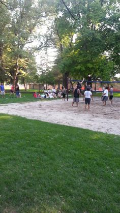 July 19, 2014-The son-in-law going up for a block in his volleyball game.  They won!