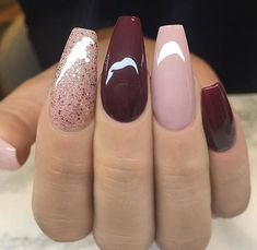 32 Fall Nails Colors Acrylic Coffin That will motivate you mauve nails Mauve Nails, Dark Nails, Gel Nails, Nail Polish, Dark Color Nails, Nail Colour, Burgundy Nails, Cute Acrylic Nails, Glitter Nail Art