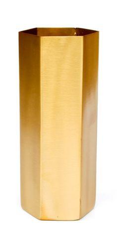 Brass Hexagon Vase