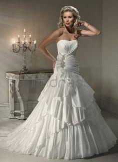 Abiti da Sposa Vintage-Corpetto senza spalline corsetto abiti da sposa vintage