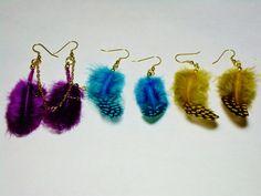 On Sale / Feather Earrings. by AmhalchyJewelry on Etsy,