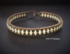 Original design oxidised copper wire weave bracelet.