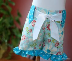 Whimsy Couture Girls Ruffle Shorts Sewing Pattern Tutorial with option for flat front many sizes. $9.00, via Etsy.