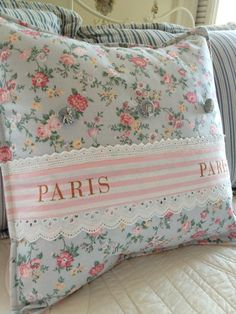 French Country Pillow Cover Shabby Chic by ParisLaundryDesigns, $45.00