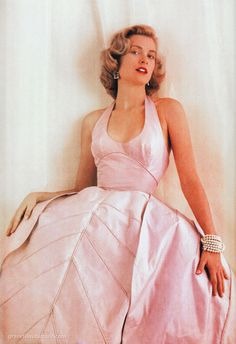graceful:  Grace Kelly photographed by Milton H. Greene in a dress by Oleg Cassini