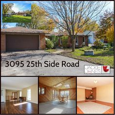 * NEW LISTING * 3095 25th Side Road, Innsfil. Large Custom Ranch Bungalow with 3 bedrooms and 3 bathrooms. Separate basement entrance and separate dining room. Laminate Flooring (NEW), and ceramic floors. Garage has insulated doors and walls. Main floor L