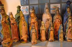 My Tlaquepaque Guadalupe bottle collection is growing!  Love these ladies!  www.mexicana-nirvana.com