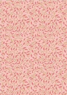 Chieveley, Lewis & Irene | Garland Swirl on Pink | Empress Mills