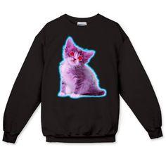 Pastel Goth Kitten Crewneck Sweatshirt - Kitten - Pastel Goth - Printfection.com