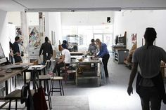 24 hr printshop/workshop- work areas for students