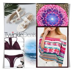 """""""Beach and summer with Twinkledeals"""" by melissa995 ❤ liked on Polyvore featuring beach, colorful and summerstyle"""