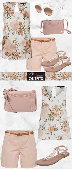 Wunderschöner Look aus einer Bluse von Vero Moda, einer rosa Shorts und schönen Sandalen mit Perlen...#fashion #mode #damenmode #frauenmode #outfit #damenoutfit #frauenoutfit #sommer #sommer2018 #modetrend2018 #trend2018