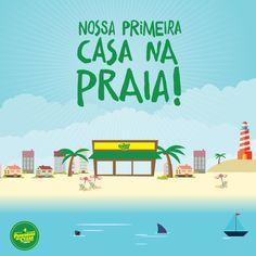 Oficialmente instalados!   Nossa primeira casa na praia, em Balneário Camboriú, está de portas abertas esperando por você. Vem almoçar, jantar, tomar café da tarde com a gente, vem.