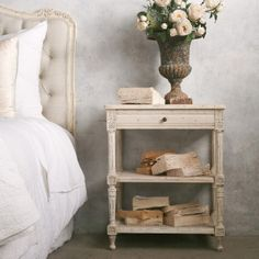 Eloquence Napoleon Weathered White Nightstand. #laylagrayce #new #nightstand