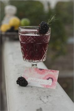 Add hints of marsala color to your wedding at your drink bar! Red wine and pretty ruby colored cocktails are perfect for this!