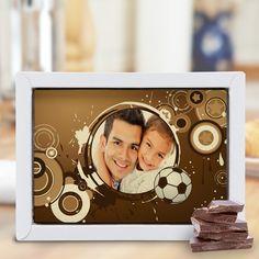 Tafel Schokolade mit Bild als tolles Geschenk zum Vatertag