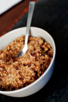 Overnight Slow Cooker Oatmeal.
