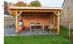 The outdoor pergolas are quite popular these days. Everyone wants to create a place where they could relax and recharge themselves and outdoor pergolas are perfect place to do it. Outdoor Pergola, Backyard Patio, Gazebo, Outdoor Decor, Small Garden Arbour, Garden Arbor, Persian Garden, Garden Inspiration, Garden Ideas