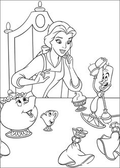 Beauty and The Beast Coloring Page Images