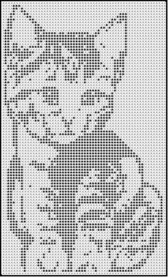 bIbkALoPuHs (364x600, 197Kb)                                                                                                                                                                                 More Funny Cross Stitch Patterns, Cat Cross Stitches, Cross Stitch Designs, Cross Stitching, Filet Crochet, Crochet Chart, Thread Crochet, Beaded Cross Stitch, Cross Stitch Embroidery