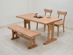 Dining Table 140ダイニングテーブルセット4点ベンチイス2hidaナチュラル無垢 北欧 インテリア 雑貨 家具 Modern ¥69500yen 〆08月02日