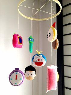 Doraemon Theme Baby Mobile by IFeltinLoveBaby on Etsy