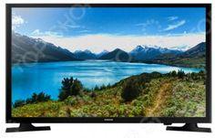 Samsung UE32J4000AKX  — 20040 руб. —  Телевизор Samsung UE32J4000AKX прекрасный выбор для просмотра любимых телепрограмм и фильмов. Кроме того, встроенный медиаплеер позволяет воспроизводить поддерживаемые файлы с USB-накопителей. Телевизоры со светодиодной подсветкой LED отличаются улучшенной цветопередачей сочные реалистичные цвета и пониженным энергопотреблением. Модель оснащена встроенным цифровым тюнером, поддерживающим стандарты DVB-T2 и DVB-C.