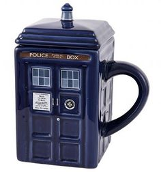 Kurt Adler Doctor Who Tardis Figural Ornament Glass Dr Who http