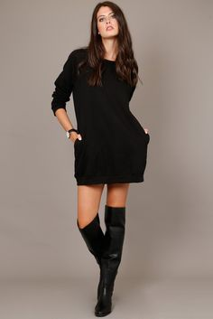 Buy it here: http://www.scarletclothing.com/collections/all-products/products/sweatshirt-dress