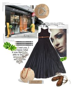 """""""July 5,2017"""" by anny951 ❤ liked on Polyvore featuring Hourglass Cosmetics, MICHAEL Michael Kors, Hat Attack, Hermès, STELLA McCARTNEY and Madewell"""