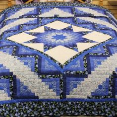 Star Log Cabin Quilt | Queen Lone