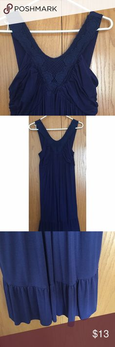 Delia's navy dress Size large. 95% rayon, 5% spandex Delia's  Dresses