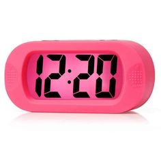 Easy to Set, Plumeet Large Digital LCD Travel Alarm Clock with Snooze Good Night light, Ascending Sound Alarm & Handheld Sized, Best Gift for Kids (Pink): Plumeet Simple Settings LCD Digital Alarm Clock/bbrbr Kids Digital Clock, Digital Wall, Digital Alarm Clock, Best Night Light, Clock For Kids, Alarm Clocks For Kids, Best Alarm, 3d Wall Clock, Travel Alarm Clock