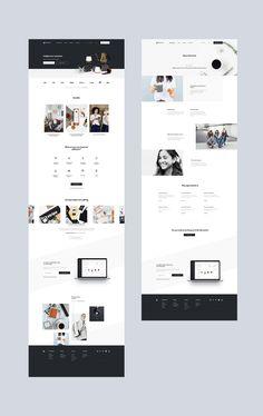 jpg by Mik Skuza - Modern Website Design Moder - Website Layout, Cv Website, Modern Website, Web Layout, Graphisches Design, Web Design Tips, Page Design, Layout Design, Modern Web Design
