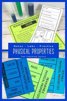 Support the learning of all students in your classroom with these standards-based physical properties of matter resources. Includes experiments worksheets, foldable notes, and sorting activities, task cards for cooperative learning. Teachers can easily accommodate ELL and 504 learners when used with their 3rd, 4th, and 5th grade science lessons and activities. You will love the experiment stations! Teaching 5th Grade, 5th Grade Science, Science Student, Elementary Science, Elementary Teacher, Math Teacher, Teaching Science, Elementary Schools, Matter Activities
