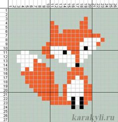 Cross Stitching, Cross Stitch Embroidery, Embroidery Patterns, Cross Stitch Designs, Cross Stitch Patterns, Fuchs Illustration, Fox Crafts, Pixel Pattern, Simple Cross Stitch