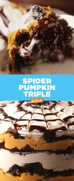 The scariest part about this Spider Pumpkin Trifle is how fast it'll vanish. Get the recipe at Delish.com.