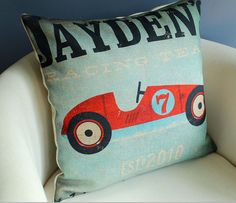 vintage tickets Cars and planes cotton pillow pillows Cotton  linen cushion sofa cushion on Etsy, $17.90