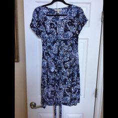 Michael Kors Paisley Print Front-Tie Dress Size L super cute Michael Kors Dresses