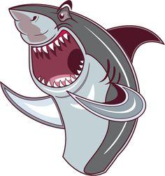 My vector art cartoon version of a shark out of water