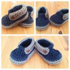 Crochet Baby Boy Booties ༺✿ƬⱤღ https://www.pinterest.com/teretegui/✿༻