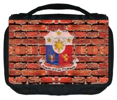 Philippines Wall Art Print Design TM Small Travel Sized Hanging Cosmetic/Toiletry Case with 3 Compartments and Detachable Hanger-Made in the U.S.A. >>> Find out more about the great product at the image link. (Note:Amazon affiliate link)