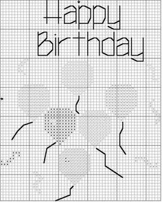 The Family.com/Cross Stitch Niche/Happy Birthday Cross Stitch Pattern