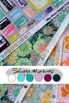 Decoding Selvage Markings - The Sewing Loft