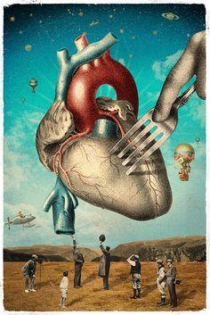 Surrealism for Real Eduardo Ramón Surrealist Collage, Collage Art, Collages, Art Pop, Yves Tanguy, Matthieu Bourel, Surreal Artwork, Anatomy Art, Human Art