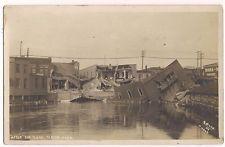 Albion, Michigan, DAMAGE AFTER THE FLOOD, 1908 RPPC Photo Postcard