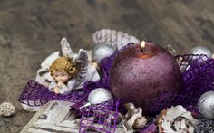A #purple #candle: creating a beautiful candlelight atmosphere. Stay inspired with #LaneBryant