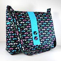 Cross Body Purse Messenger Bag Shoulder Bag  by JHFabricCreations, $43.00
